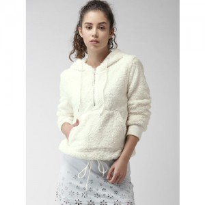 FOREVER 21 Women Off-White Solid Pullover