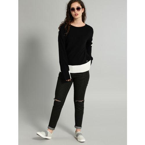 Roadster Women Black Solid Pullover