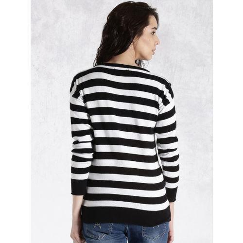 Roadster Black & White Striped Sweater