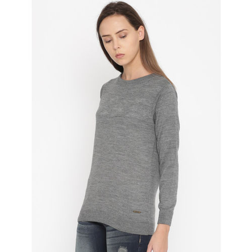 Roadster Women Grey Solid Pullover