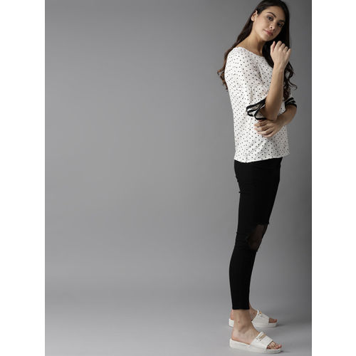 Moda Rapido Women White Printed Top