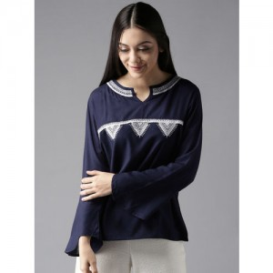 6e0bafb4a21 Buy Global Desi Women Maroon Printed Crop Top online | Looksgud.in
