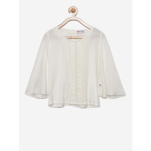 Peppermint Girls Off-White Solid Top