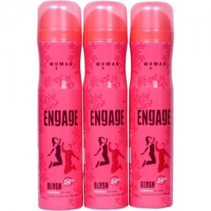 Engage BLUSH Deodorant Spray - For Women(450 ml, Pack of 3)