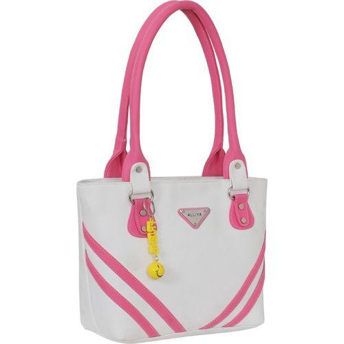 Alliya Shoulder Bag(White, Pink)