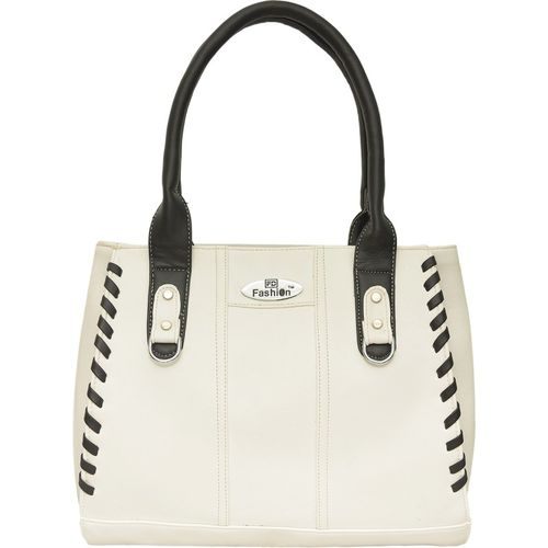 FD Fashion Hand-held Bag(White, Black)