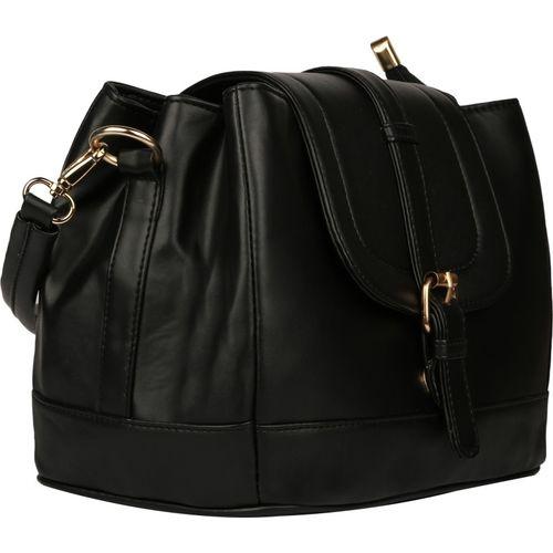 Deniza Women Formal Black PU Sling Bag