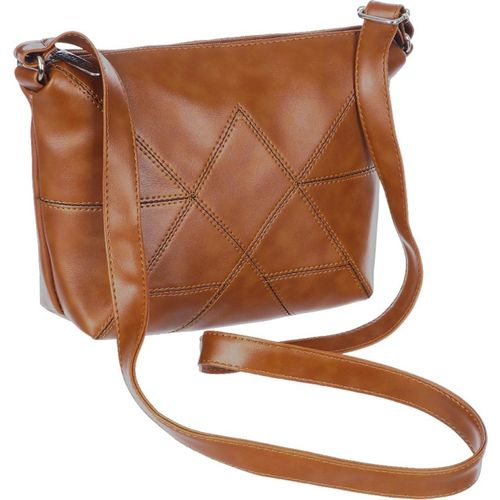 Leather Land Brown Leatherette Sling Bag