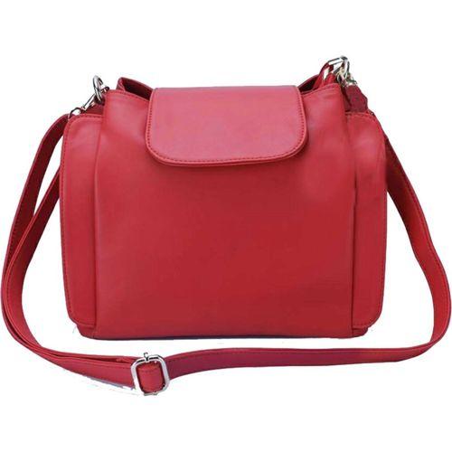 dyana core Women Casual Red PU Sling Bag