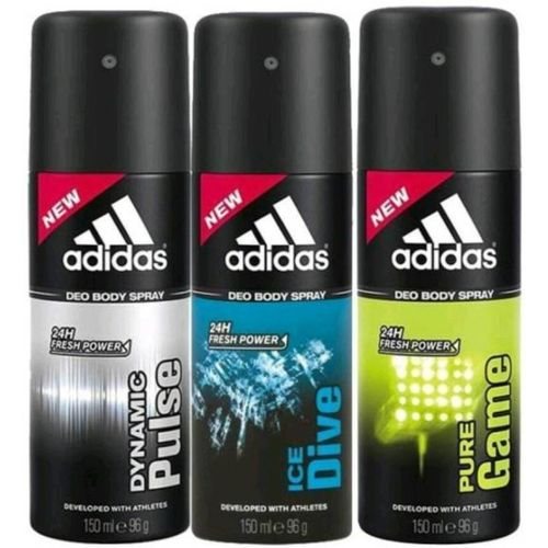 ADIDAS Ice Dive, Dynamic Pulse and Pure Game Body Spray - For Men(450 ml, Pack of 3)