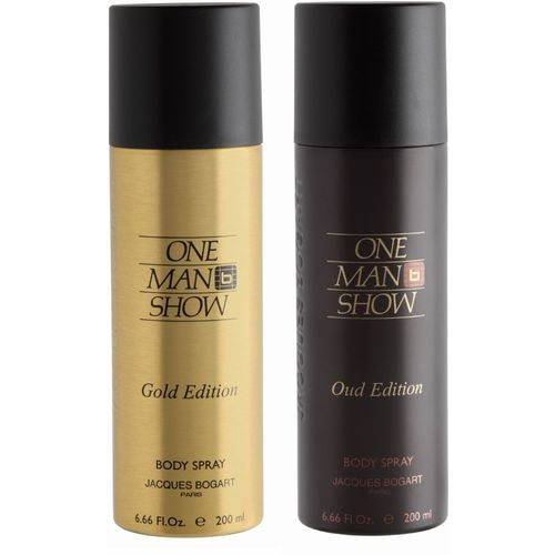 BOGART One Man Show Gold & One Man Show Oud Deodorant Spray - For Men(400 ml, Pack of 2)