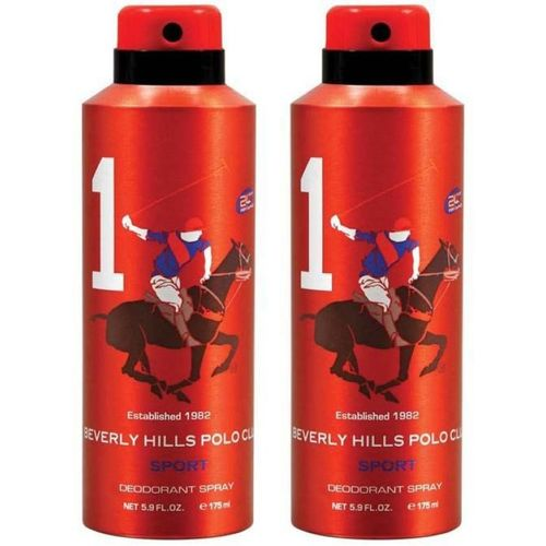 Beverly Hills Polo Club Combo Deodorants No.1X1 Body Spray - For Men(350 ml, Pack of 2)
