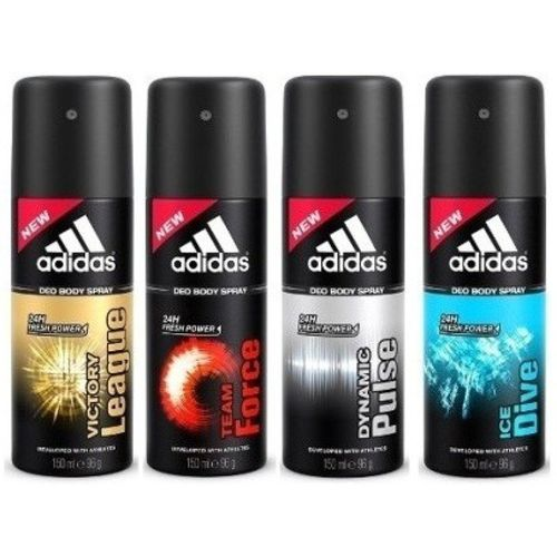 ADIDAS The Deo Deodorant Spray - For Men(600 ml, Pack of 4)