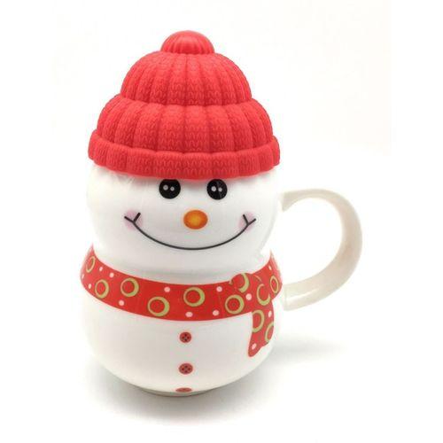 Satyam Kraft snow man shape ( Random color ) Ceramic Mug(300 ml)