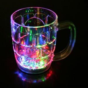 Saim Rainbow Led Color Cup Plastic Mug (350 ml)