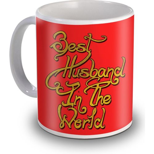 SKY TRENDS Best Husband In The World Special Valentines Gifts Ceramic Mug(350 ml)