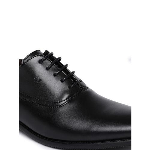 Arrow Men Black Leather Chester Formal Derbys