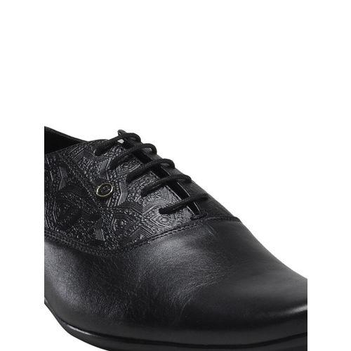 Franco Leone Men Black Leather Oxfords