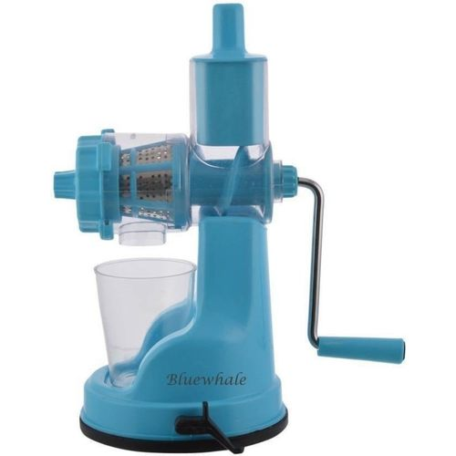 Bluewhale New Blue Color Fruits & vegitables Hand Juicer With Steel Handle Plastic, Steel Hand Juicer(Blue Pack of 1)