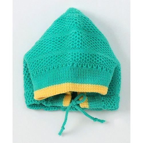 Buy Babyhug Full Sleeves Sweater With Cap & Booties Sea