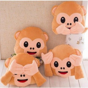Frantic Soft Plush Decorative Monkey Pillow Cushion With Pack Of 3