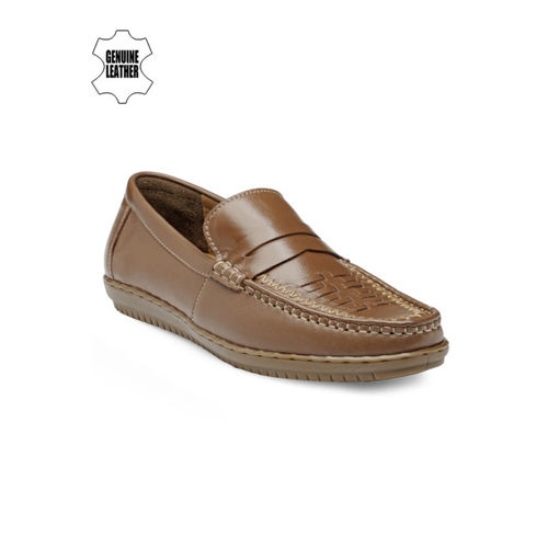 Teakwood Leathers Men Tan Brown Leather Semiformal Shoes