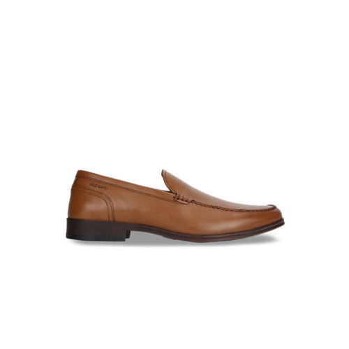 Red Tape Men Brown Formal Leather Slip On Shoes