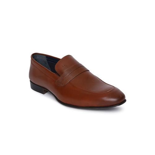 Arrow Men Tan Brown SANFORS Slip-on Leather Formal Shoes