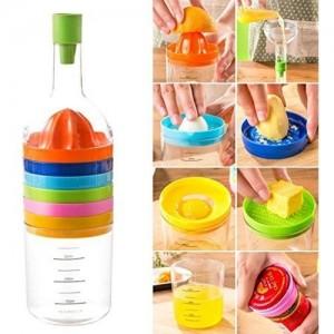 Multi Tool Bottle 8 in 1 Multicolor  Plastic Grater