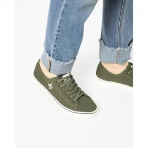Bond Street By Red Tape Men Olive Green Sneakers