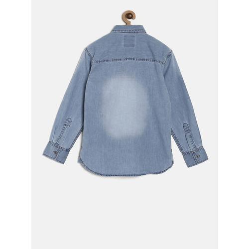 Gini and Jony Boys Blue Denim Casual Shirt