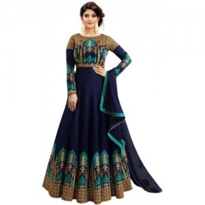 Trilok Fab Multicolor Embroidered Anarkali Gown