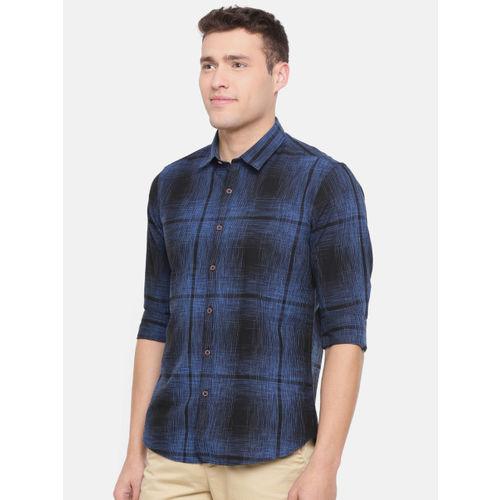 Numero Uno Men Blue Slim Fit Checked Casual Shirt
