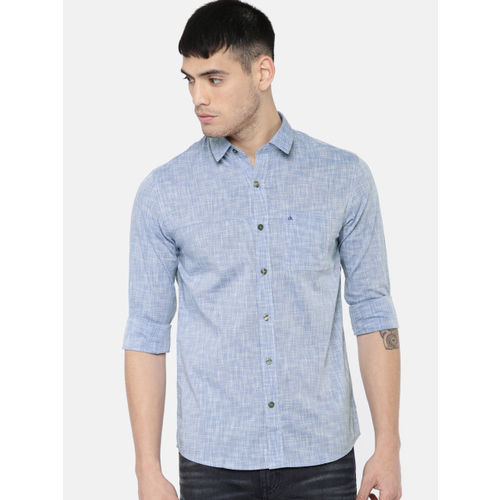 Calvin Klein Jeans Men Blue Slim Fit Striped Casual Shirt