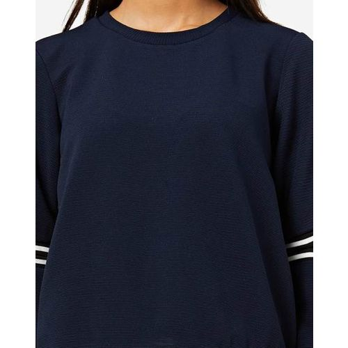 AJIO Round-Neck Top with Cutout Sleeves