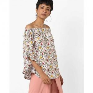 df86f61116adb Buy Vero Moda Floral Print Off-Shoulder Poncho Top online