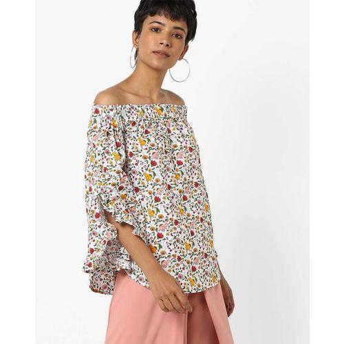 AJIO Floral Print Off-Shoulder Top