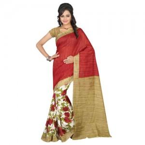 47b117589d Buy Shree Laxmi Cretion Women's Chiffon Saree With Blouse Piece ...