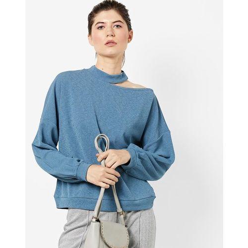 72fd712157f640 Buy AJIO High-Neck Top with Cold Shoulder online