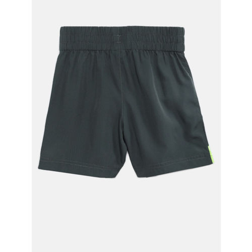 YK Boys Grey Solid Regular Fit Active Sports Shorts