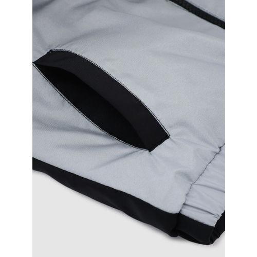 YK Boys Black Colourblocked Padded Jacket