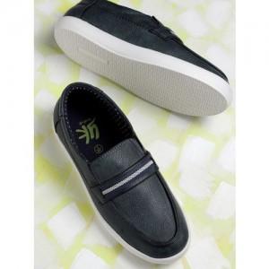 YK Boys Black Synthetic Derbys Shoes