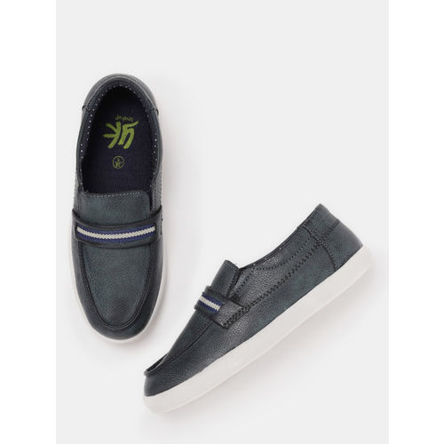 YK Boys Black Synthetic Derbys Shoes