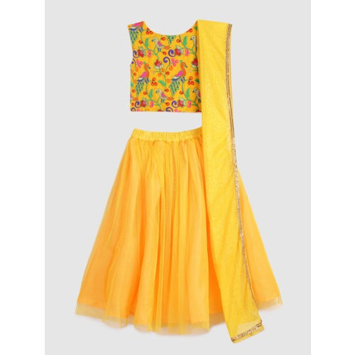 YK Yellow Ready to Wear Lehenga & Blouse with Dupatta
