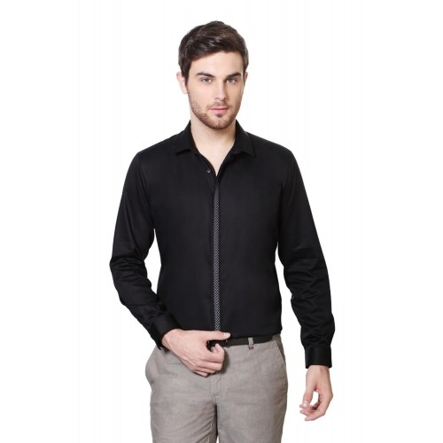 Buy Van Heusen Black Party Wear Shirt online | Looksgud.in