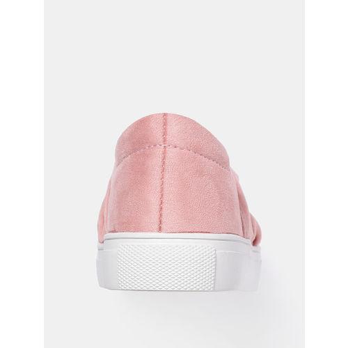 YK Girls Pink Slip-On Sneakers