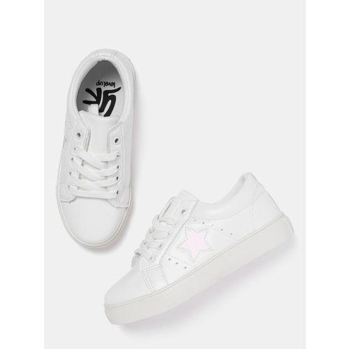 YK Girls White Sneakers