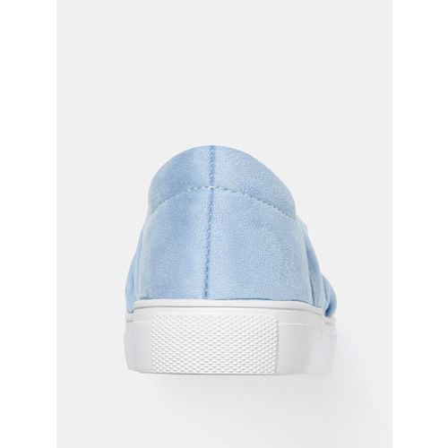 YK Girls Blue Slip-On Sneakers