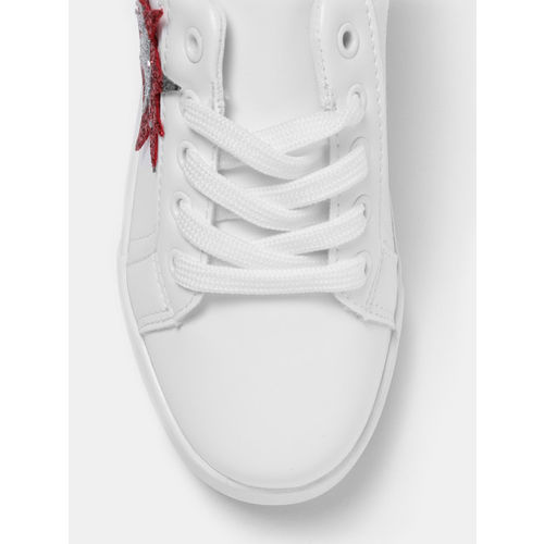 YK Girls White Sneakers