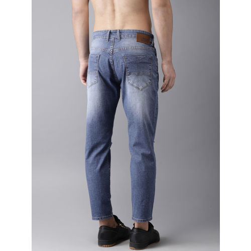 Moda Rapido Men Blue Slim Tapered Fit Mid-Rise Highly Distressed Stretchable Jeans